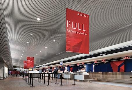 Delta Graphics at LaGuardia Airport, Location: New York, NY, Architect: Lippincott.