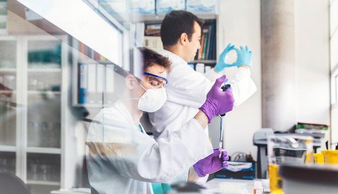 Biologist Working in a Professional Laboratory
