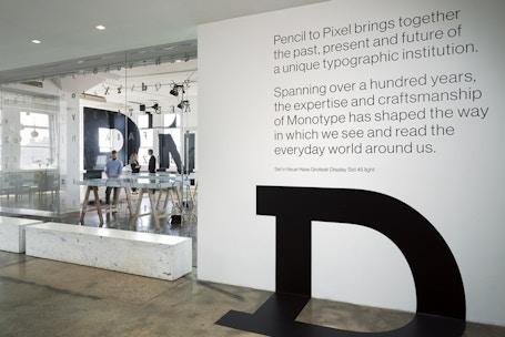 Pencil to Pixel, Exhibit by Monotype, Location: New York NY, Designer: Lippincott