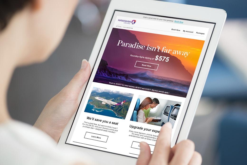 Woman using modern digital tablet