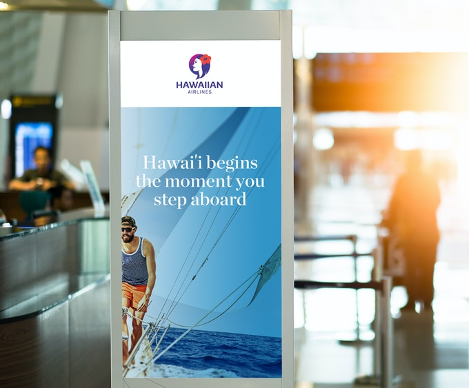 blank advertising billboard at airport.; Shutterstock ID 589466516