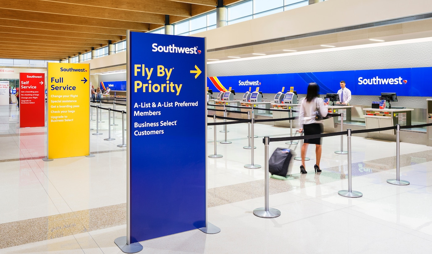 Southwest Airlines signage