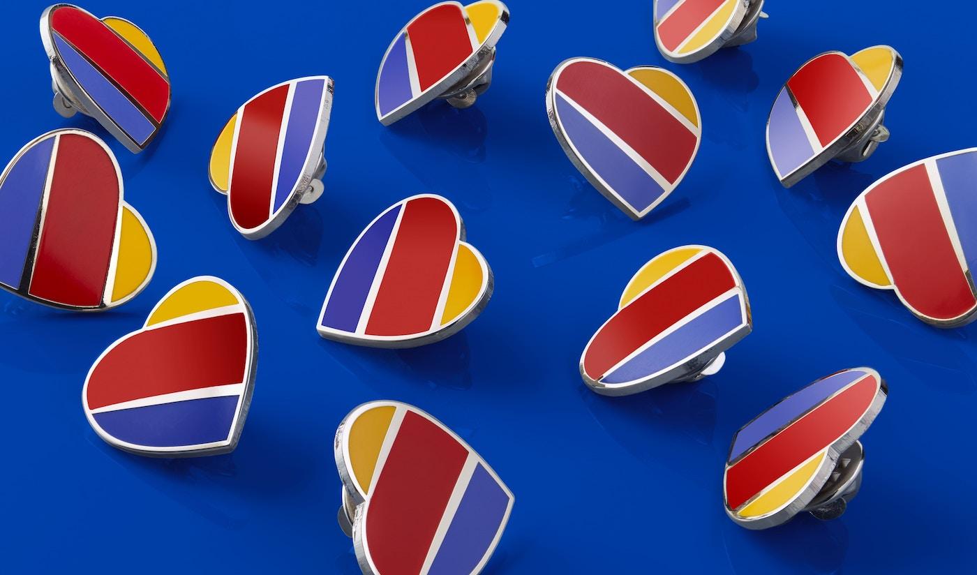 Southwest heart pins