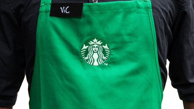 Starbucks apron with new logo