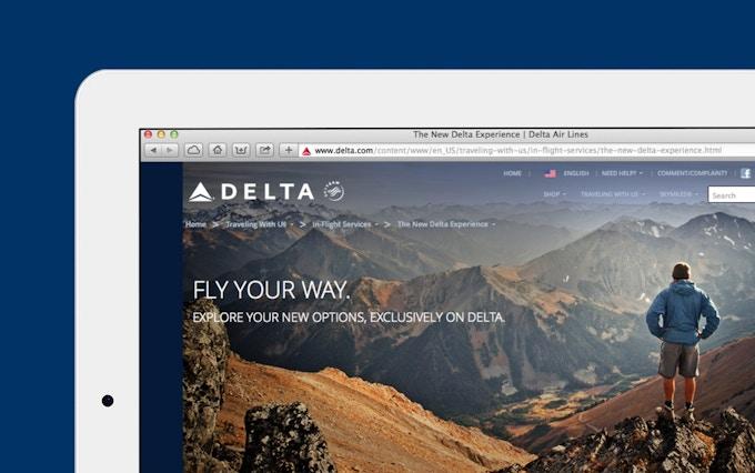 Delta Airlines website