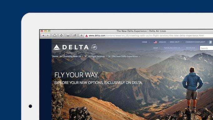 Delta Airlines 웹사이트