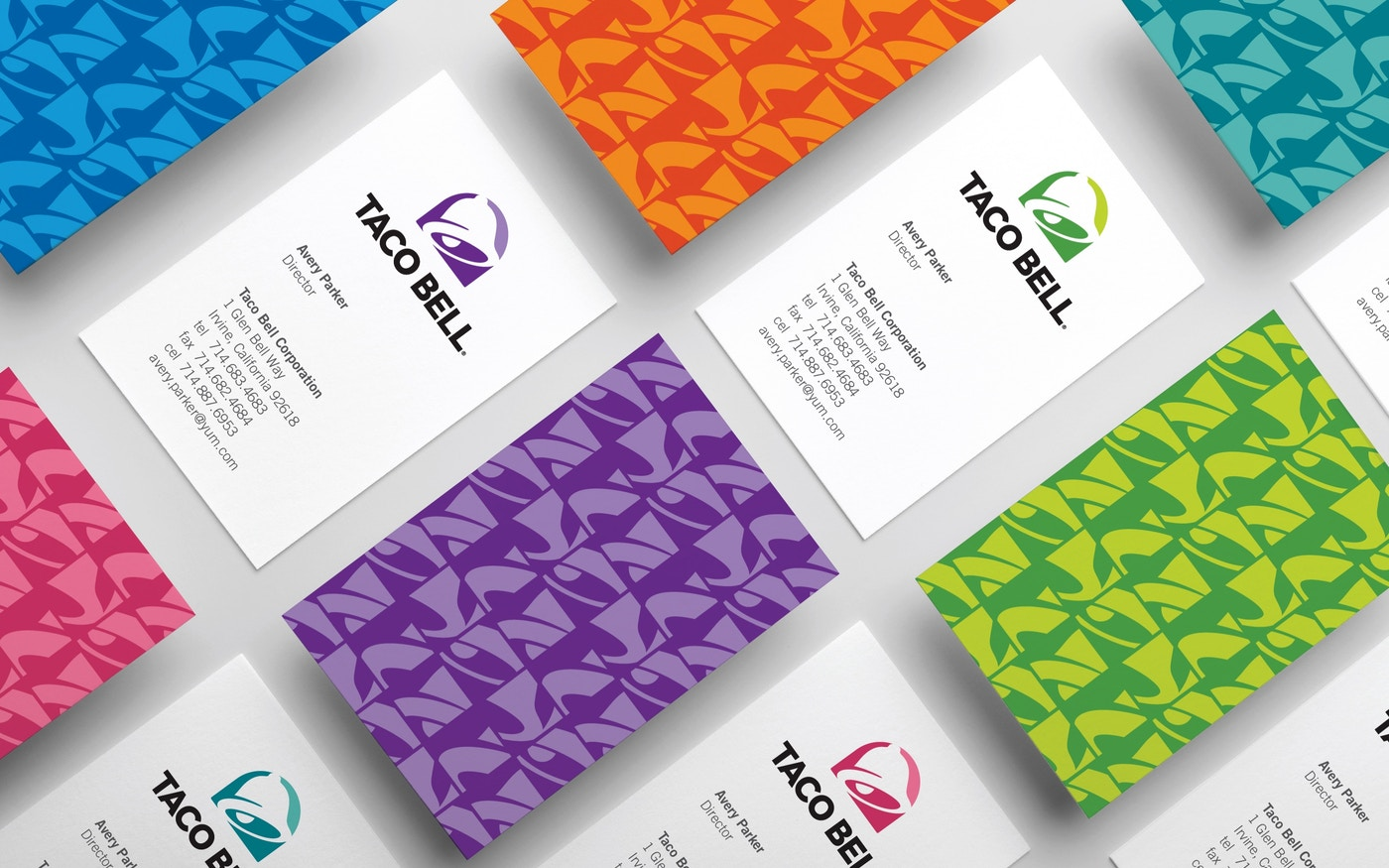 Taco Bell business cards