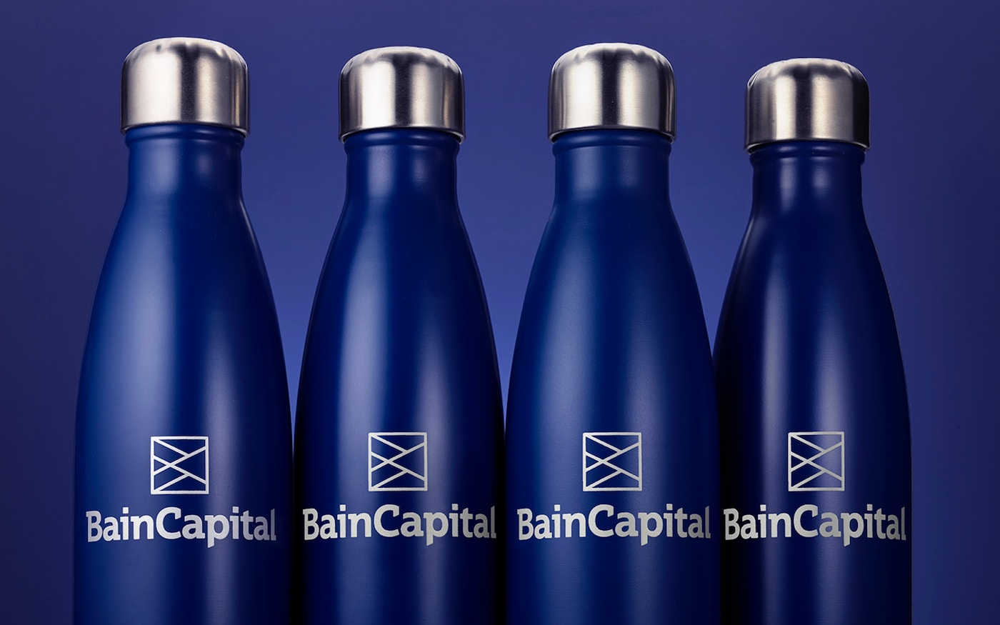 Bain Capital branded water bottles