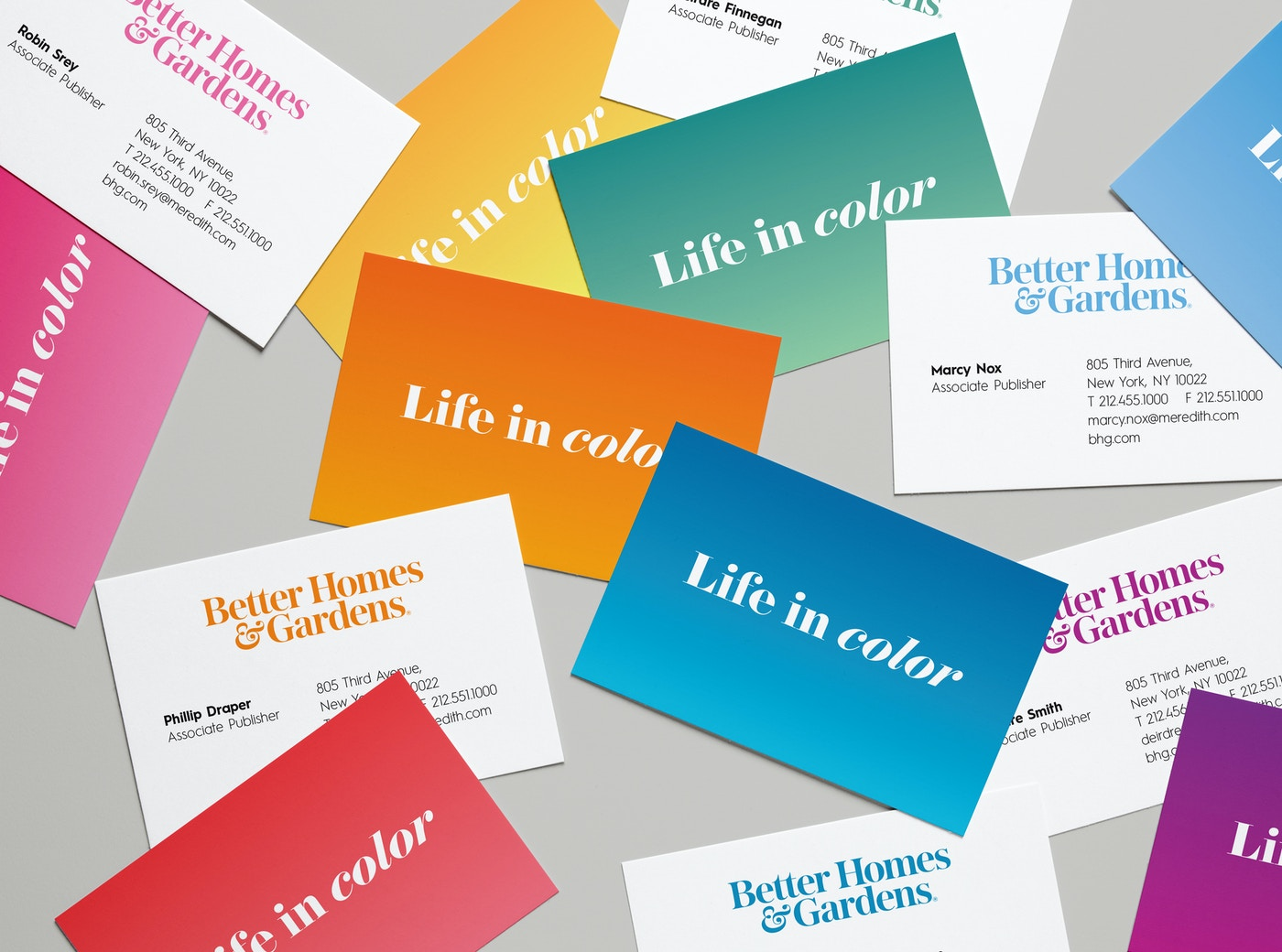 Better Homes & Gardens business cards