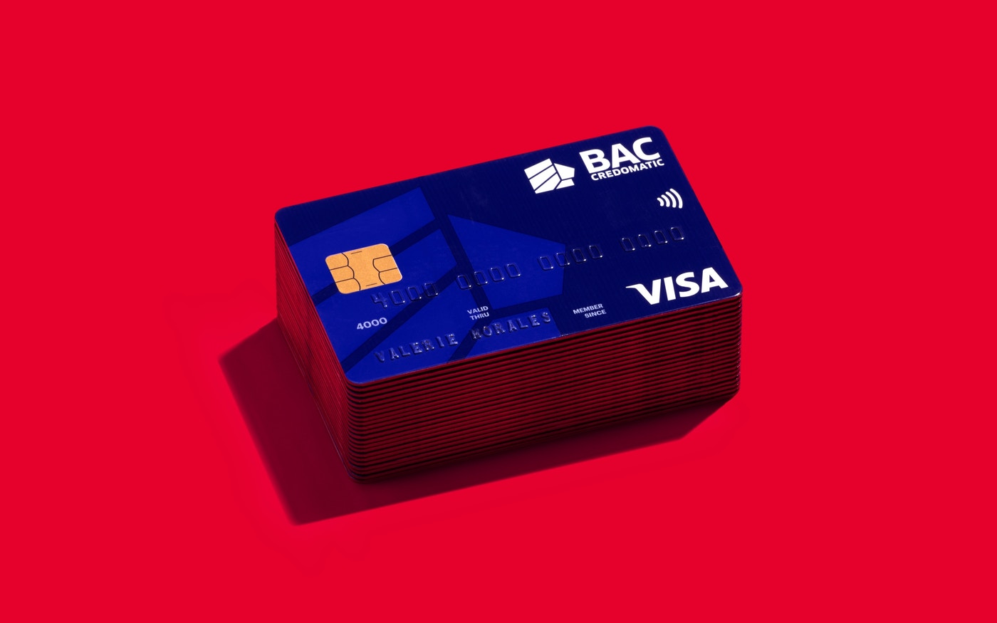 BAC Credomatic credit card design