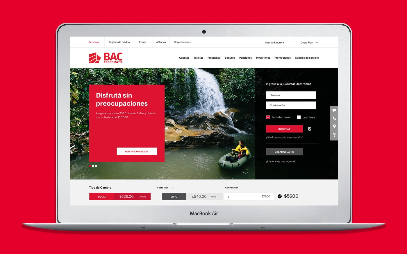 BAC Credomatic website design