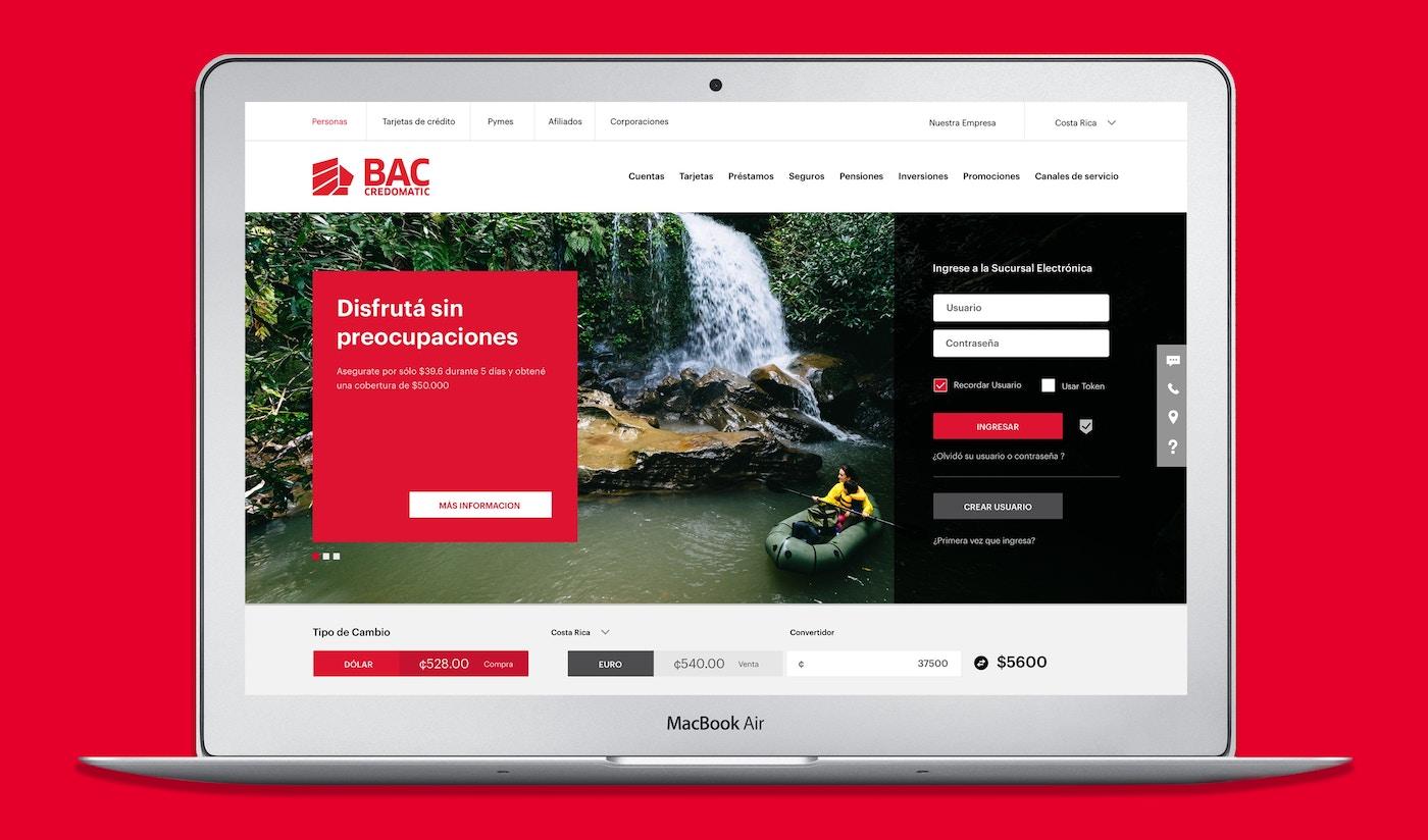 BAC Credomatic website