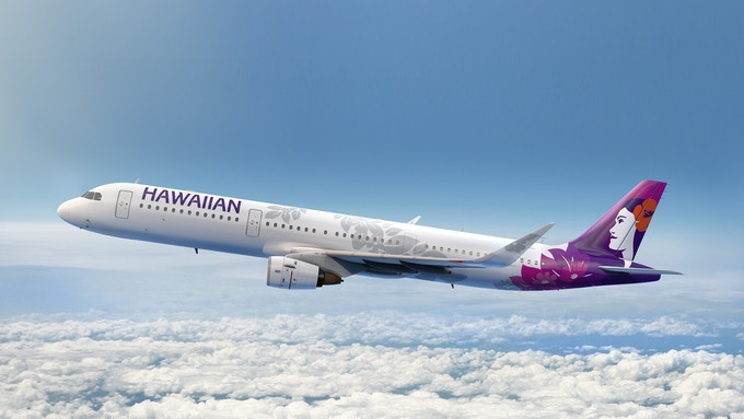 Hawaiian Airlines new branded airplane