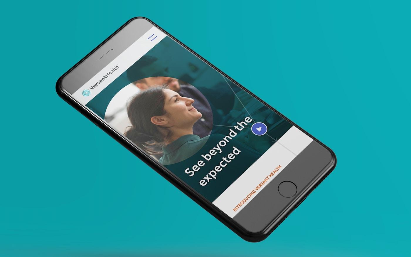 Versant Health mobile experience
