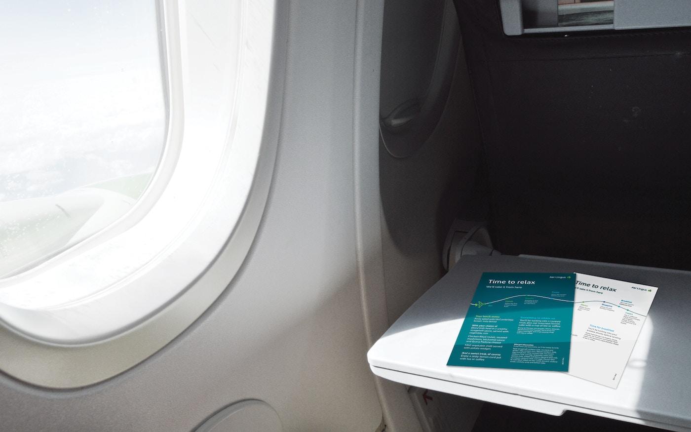 Aer Lingus in-flight design