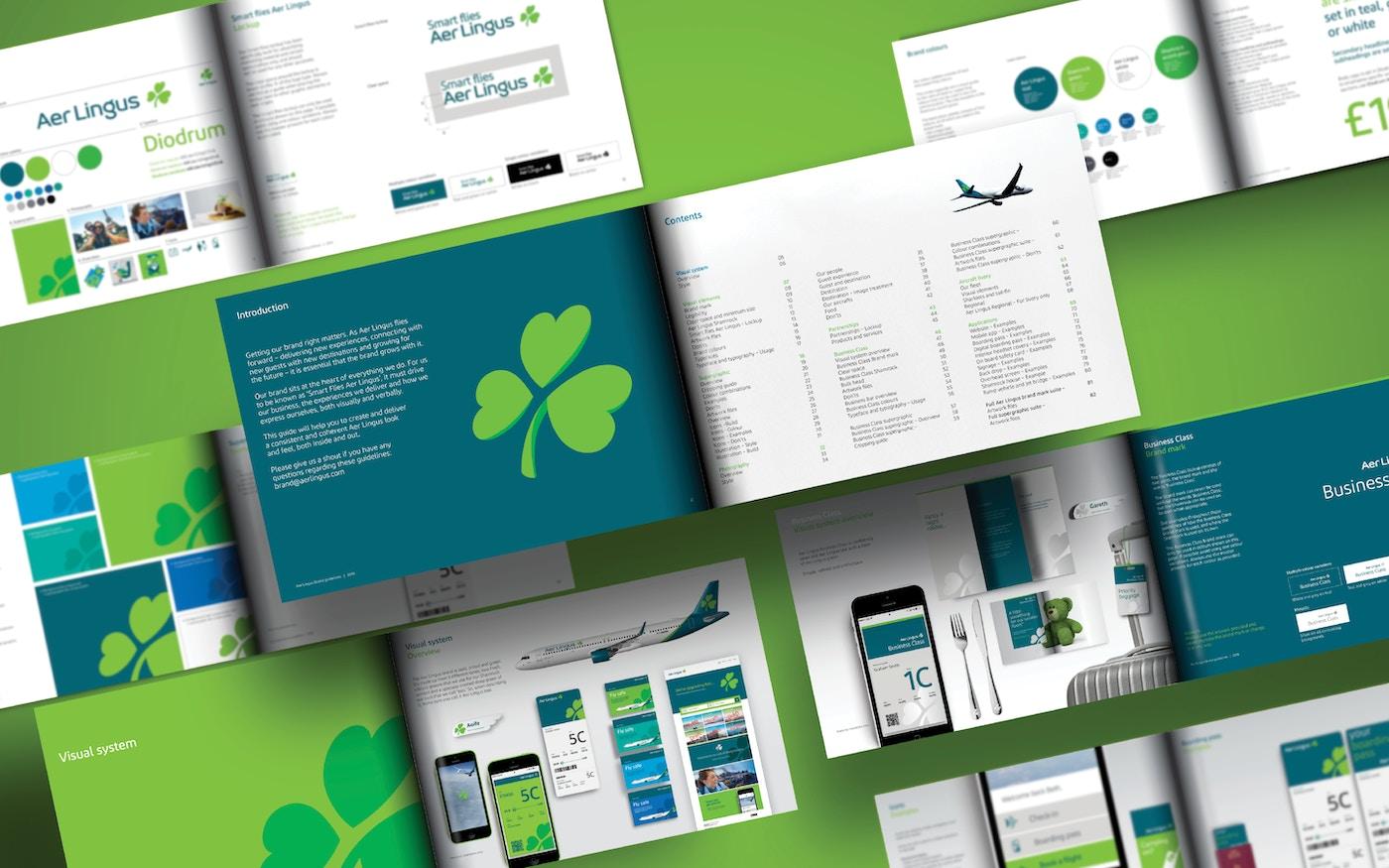 Aer Lingus visual system design
