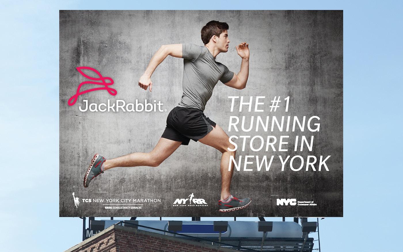 JackRabbit running store billboard