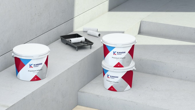 Kansai paint branded containers