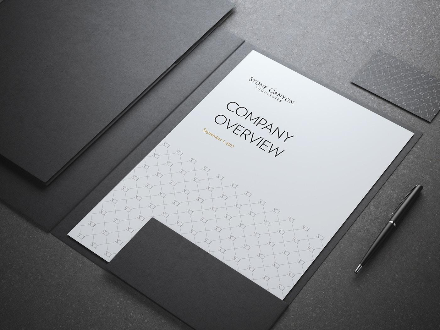 Stone Canyon branded folder
