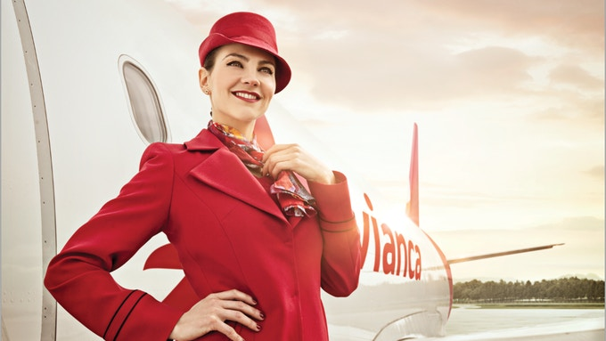 Avianca flight attendant wardrobe