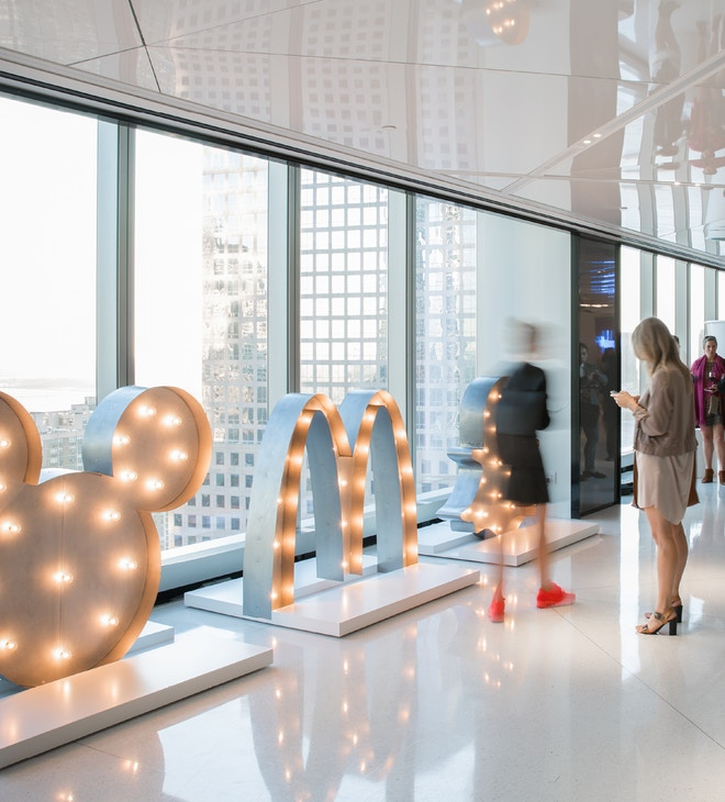 Interior image of Lippincott's Like Me Brand exhibit in New York