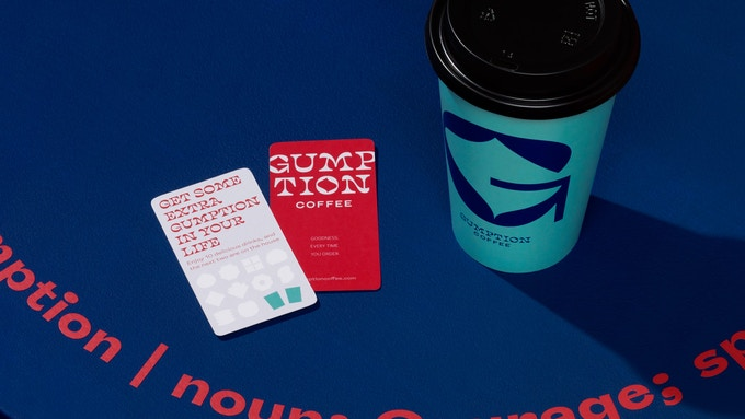 Gumption Coffee loyalty cards