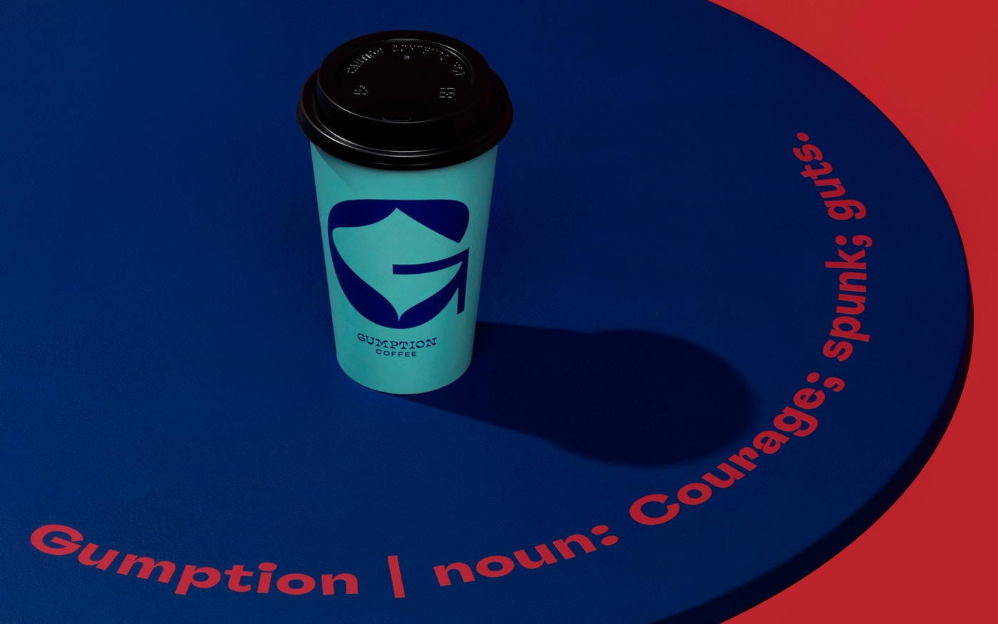 Gumption definition and designed coffee cup