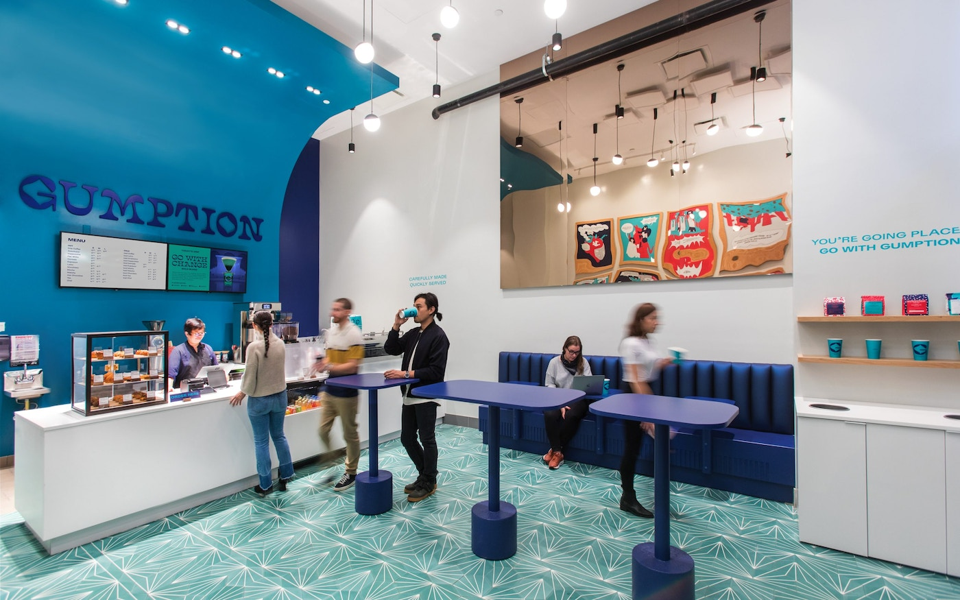 New Gumption Coffee in-store experience