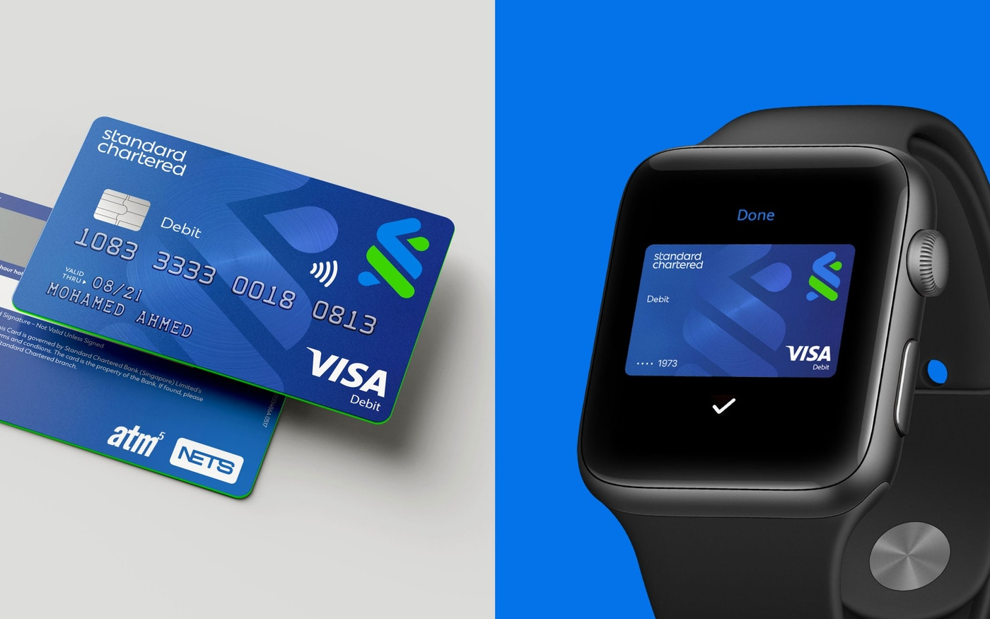New Standard Chartered credit cards and smart watch